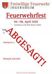 Feuerwehrfest – ABGESAGT!